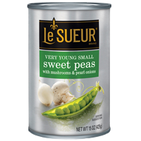 le sueur sweet peas with mushrooms and pearl onions